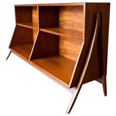 Sculptural Walnut Bookcase by Kipp Stewart for Drexel, circa 1965