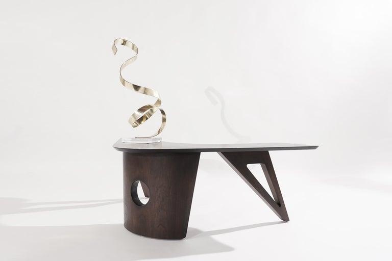 Sculptural Walnut Boomerang Coffee Table, 1950s 4