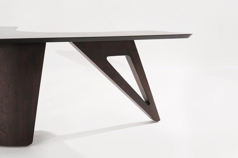 Sculptural Walnut Boomerang Coffee Table, 1950s 5