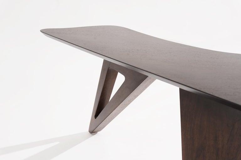 Sculptural Walnut Boomerang Coffee Table, 1950s 6