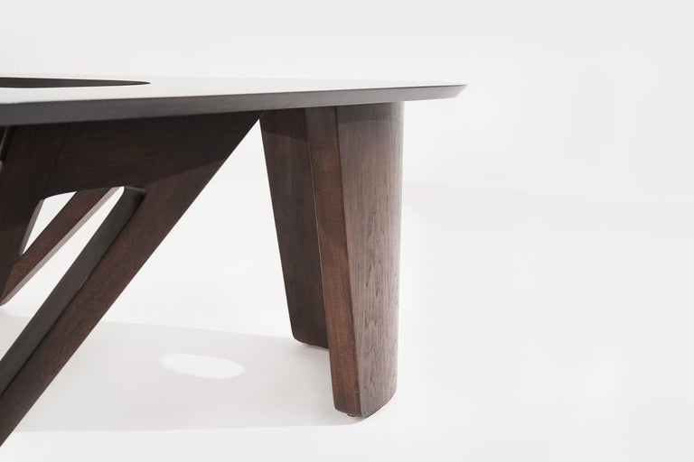 Sculptural Walnut Boomerang Coffee Table, 1950s 7