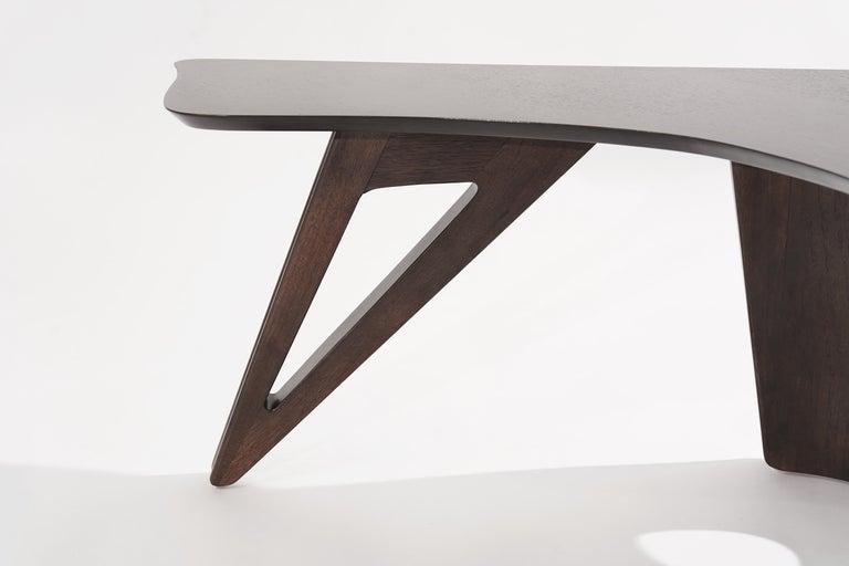 Sculptural Walnut Boomerang Coffee Table, 1950s 8