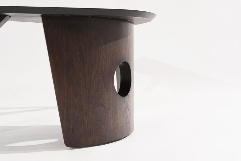 Sculptural Walnut Boomerang Coffee Table, 1950s 9