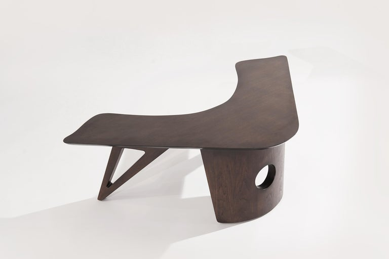 Sculptural Walnut Boomerang Coffee Table, 1950s In Excellent Condition In Stamford, CT