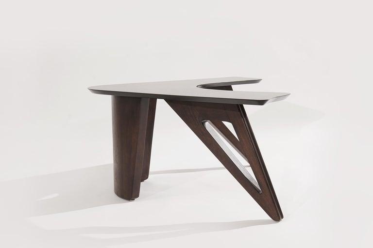 20th Century Sculptural Walnut Boomerang Coffee Table, 1950s