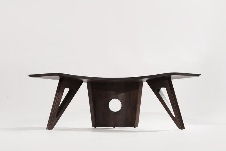 Sculptural Walnut Boomerang Coffee Table, 1950s 2