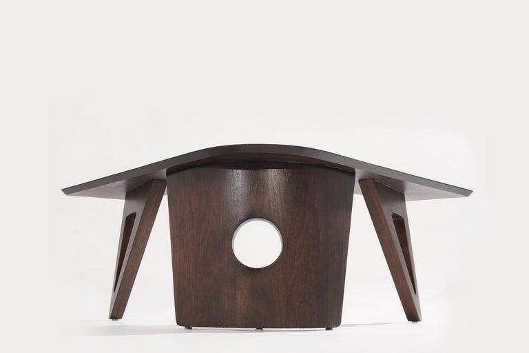 Sculptural Walnut Boomerang Coffee Table, 1950s 3