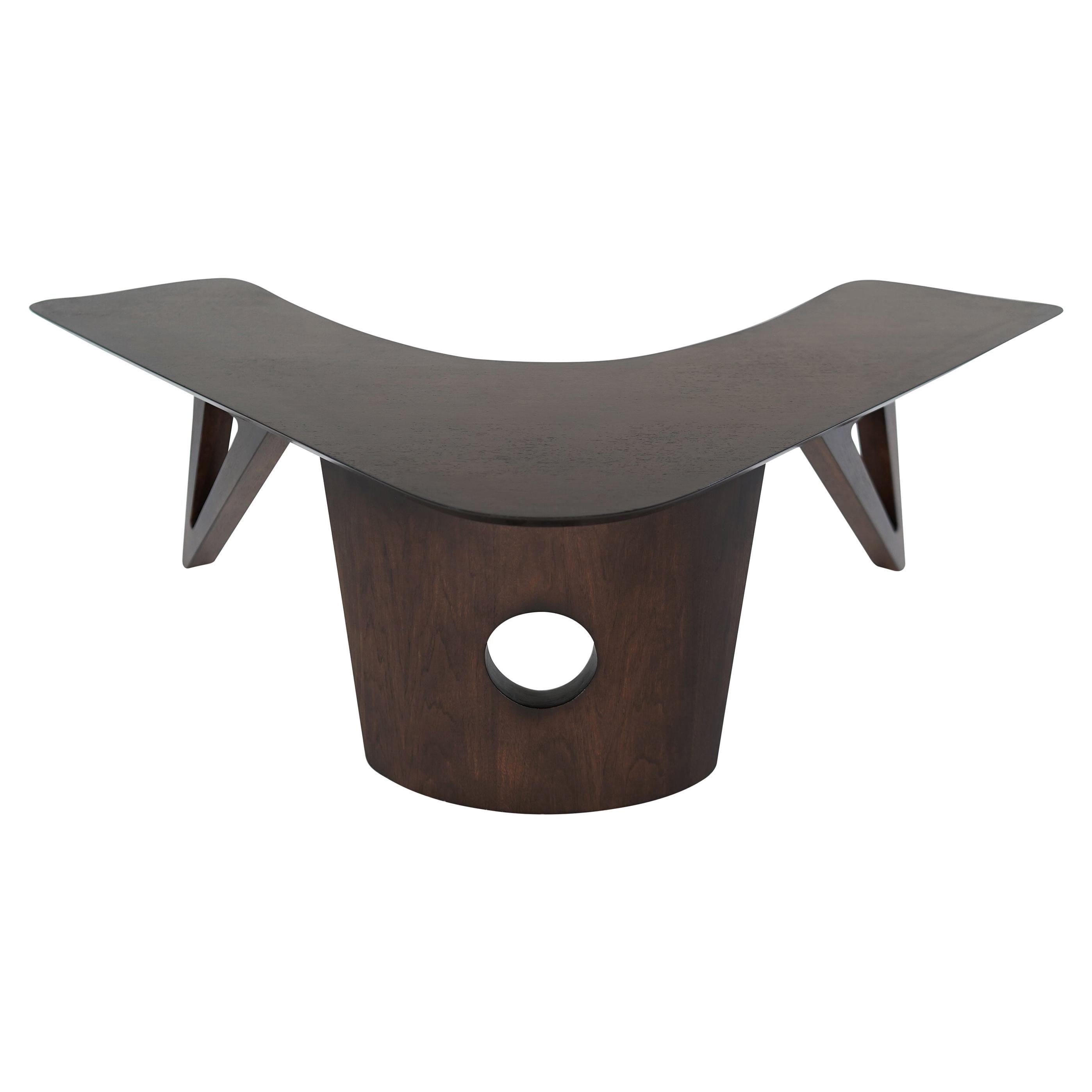 Sculptural Walnut Boomerang Coffee Table, 1950s