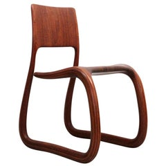 Sculptural Walnut Chair by David Flatt