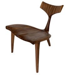 "Sculptural Walnut ""Whale"" Chair Morten Stenbaek"