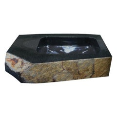 Sculptural Wash Basin, Daté Kan Stone Design by Okurayama