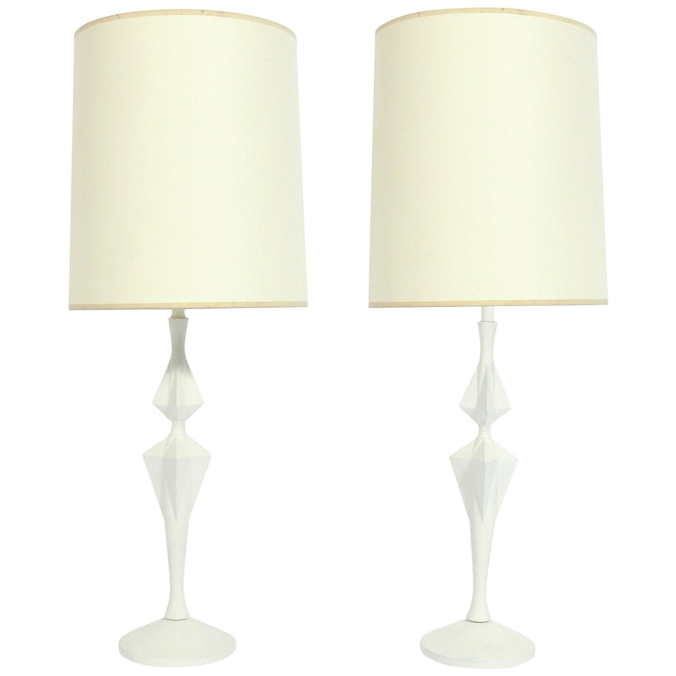 Sculptural White Lamps