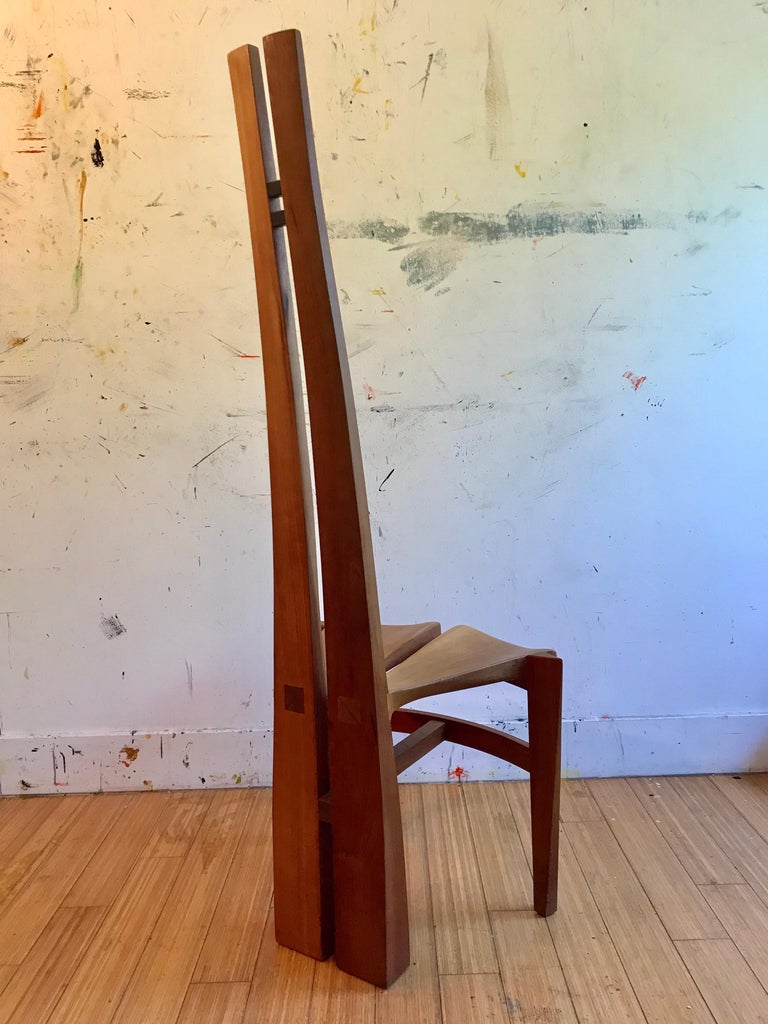Sculptural Wood Accent Chair, 1996 For Sale 5