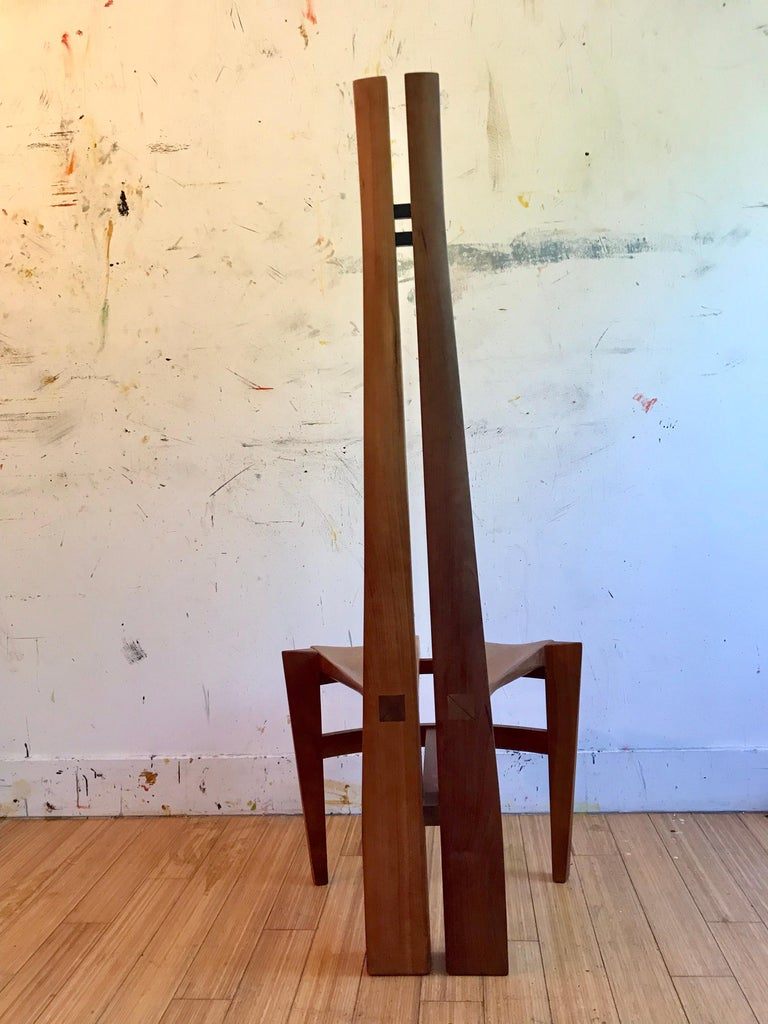 Sculptural Wood Accent Chair, 1996 For Sale 6