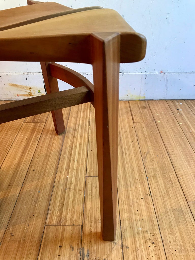 Sculptural Wood Accent Chair, 1996 For Sale 8