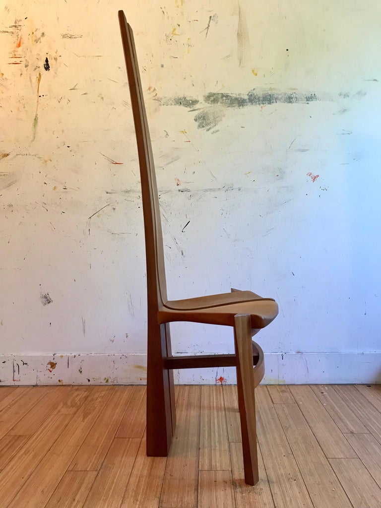 Sculptural Wood Accent Chair, 1996 For Sale 9