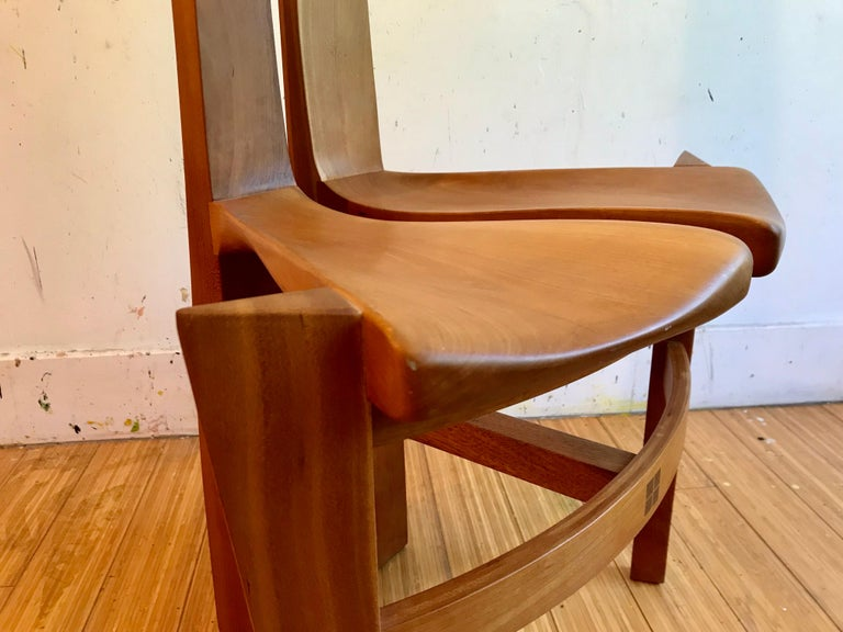 Sculptural Wood Accent Chair, 1996 For Sale 11