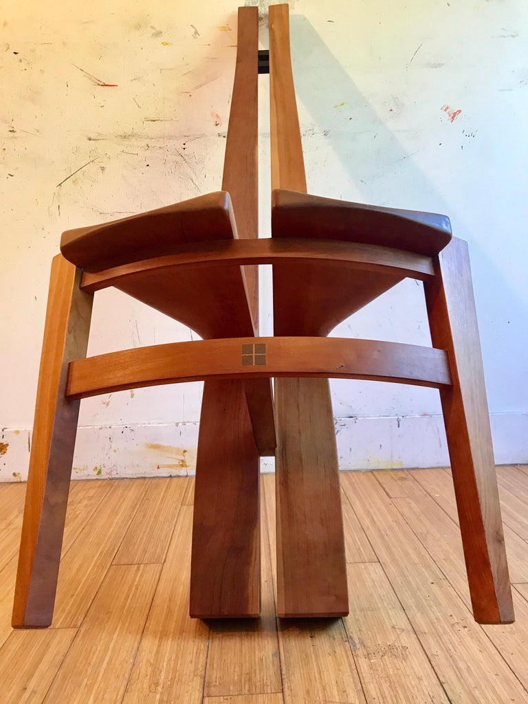 Sculptural Wood Accent Chair, 1996 For Sale 2