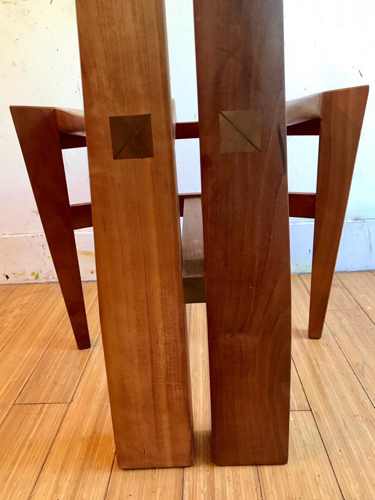Sculptural Wood Accent Chair, 1996 For Sale 4