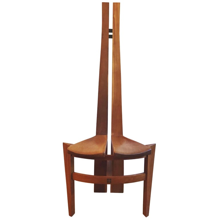 Sculptural Wood Accent Chair, 1996 For Sale