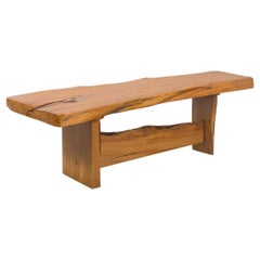Sculptural Wooden Coffee Table or Bench