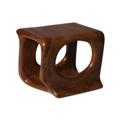 Sculptural Wooden Side Table, 1970's