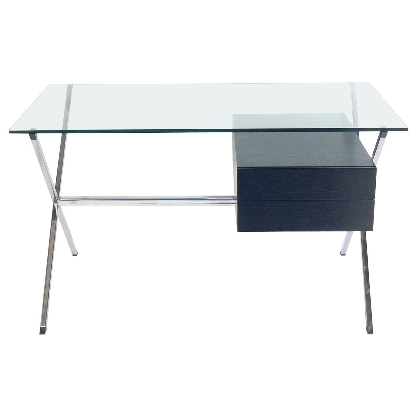 Sculptural X-Base Desk by Franco Albini