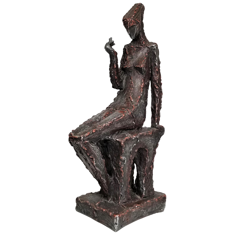 Sculpture 1969 Signed Austin Productions Figural Brutalist