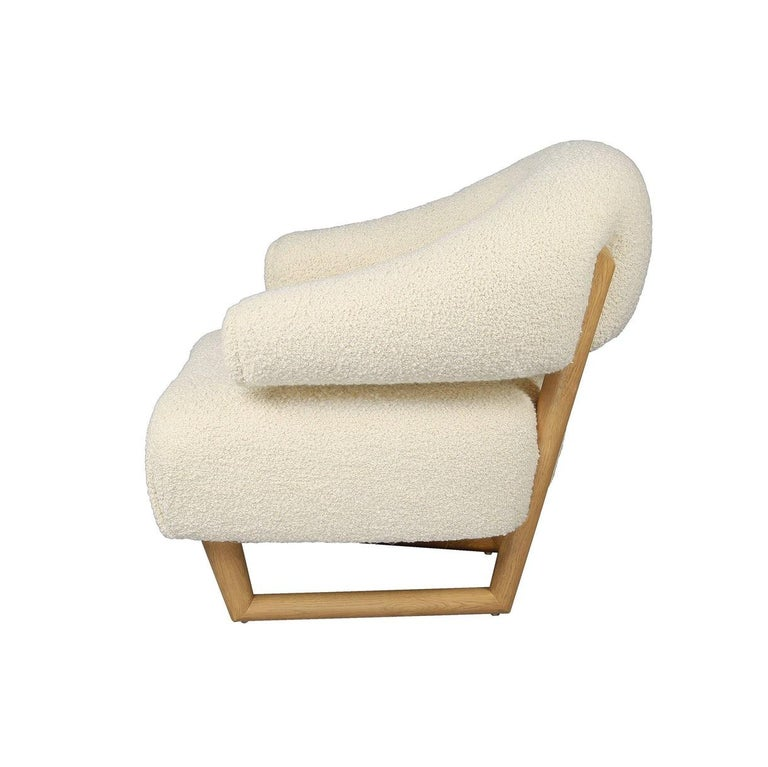 Mid-Century Modern 'Sculpture' Armchair in the Style of Jean Royère 'r'