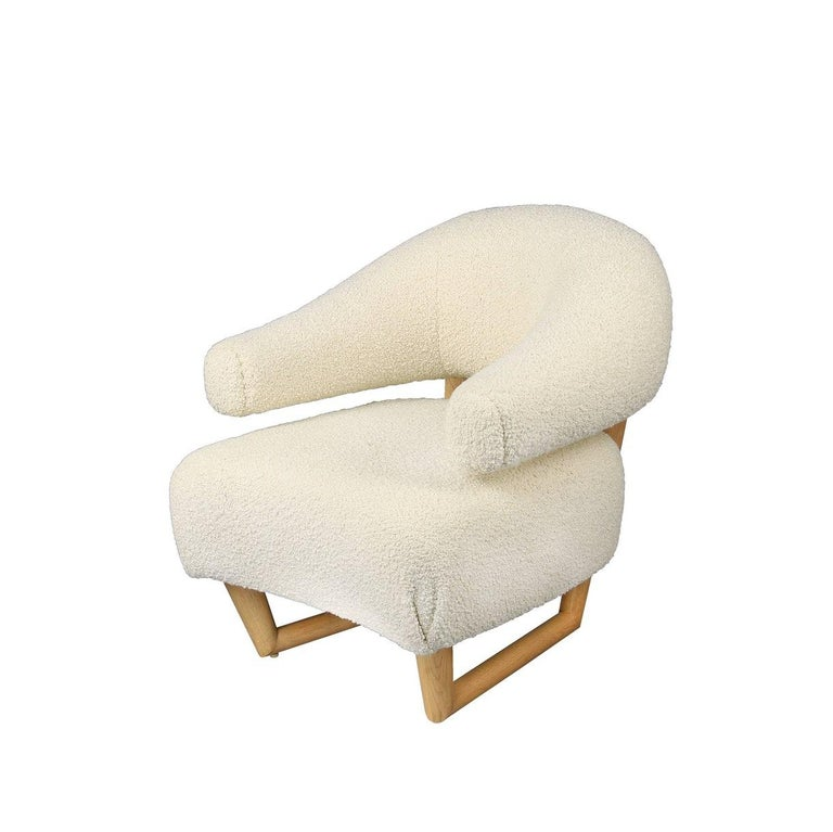 American 'Sculpture' Armchair in the Style of Jean Royère 'r'