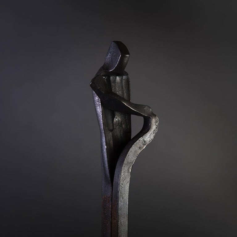 Modern Sculpture 'Birth' of the 'Family' Series by German Blacksmith H. Zimmermann For Sale