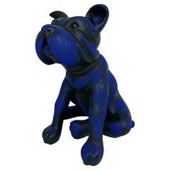 "Sculpture ""Blue Dog"" by Cristina Iturrioz"