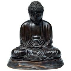 Sculpture Bronze Japanese Buddha