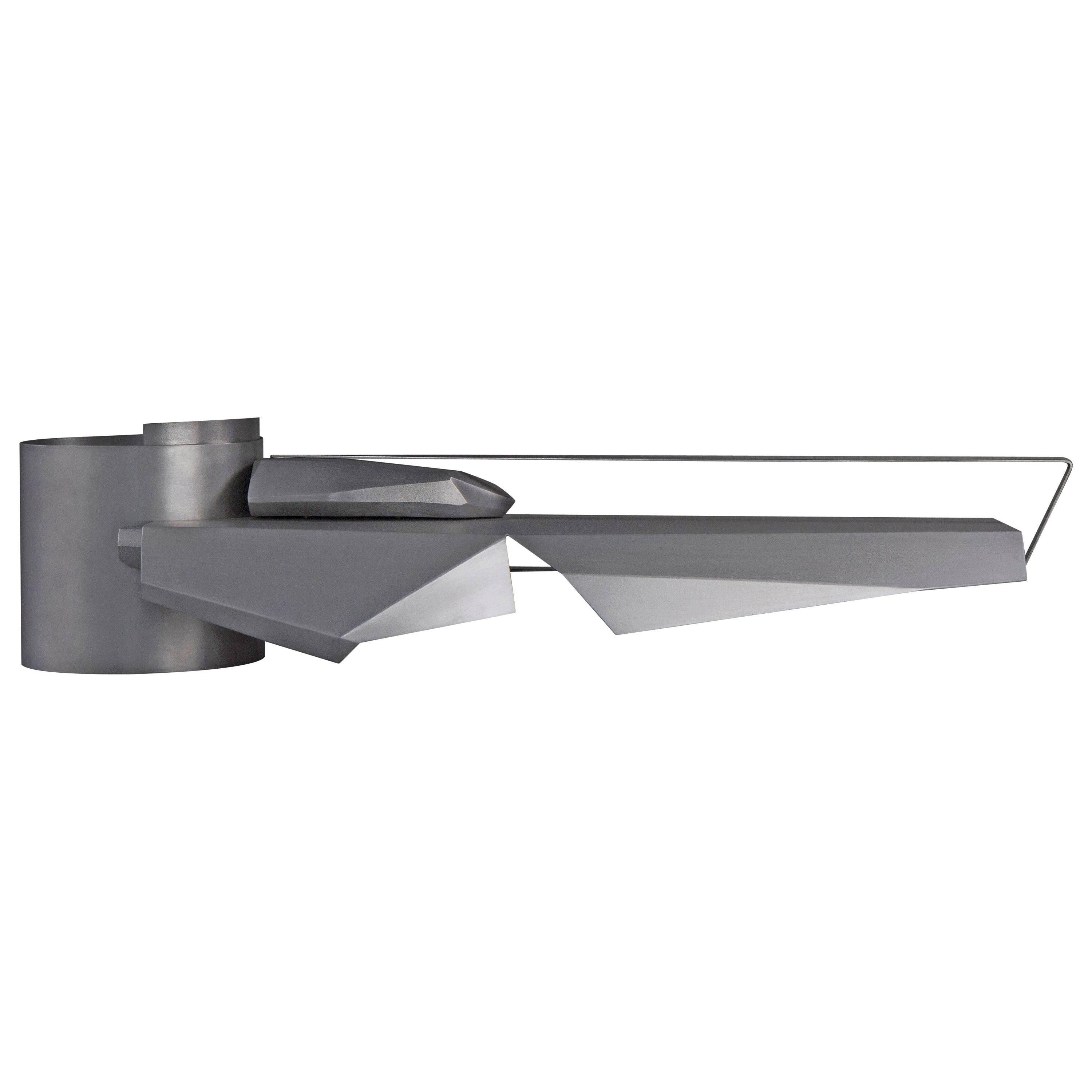 Sculpture by Todomuta Studio Brushed and Polished Aluminum Silver