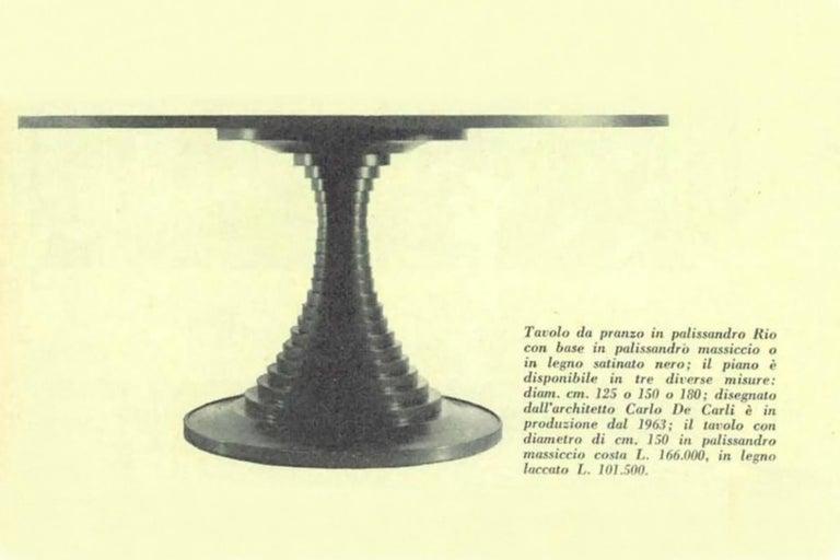 Italian Sculpture Center Table by Carlo de Carli for Sormani, 1963 For Sale