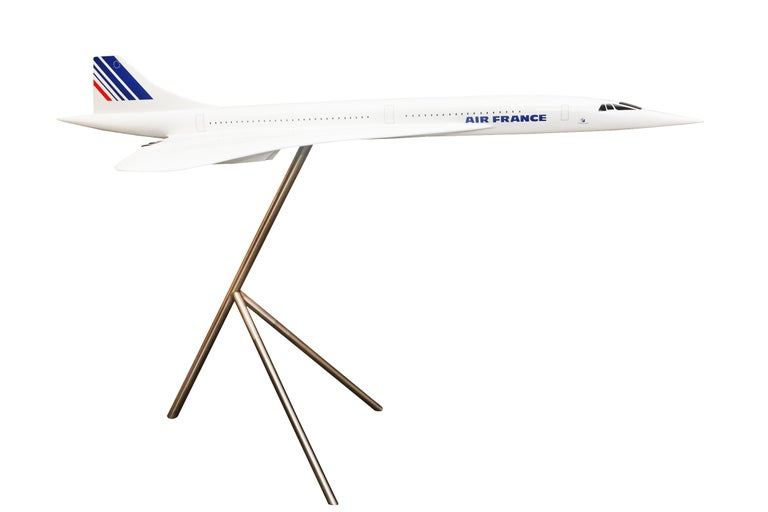 French Sculpture Concorde Model Scale 1/36 For Sale