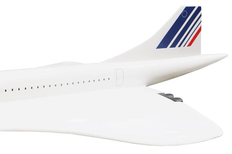 Contemporary Sculpture Concorde Model Scale 1/36 For Sale