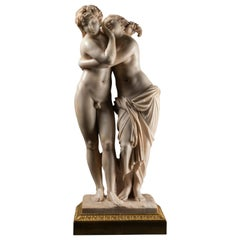 Sculpture Depicting Byblis & Caunis, White Marble, Late 18th Century