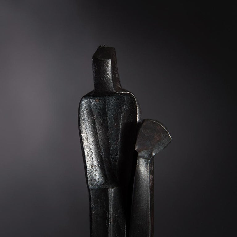 Modern Sculpture 'Father and Child', Family Series by German Blacksmith H. Zimmermann For Sale