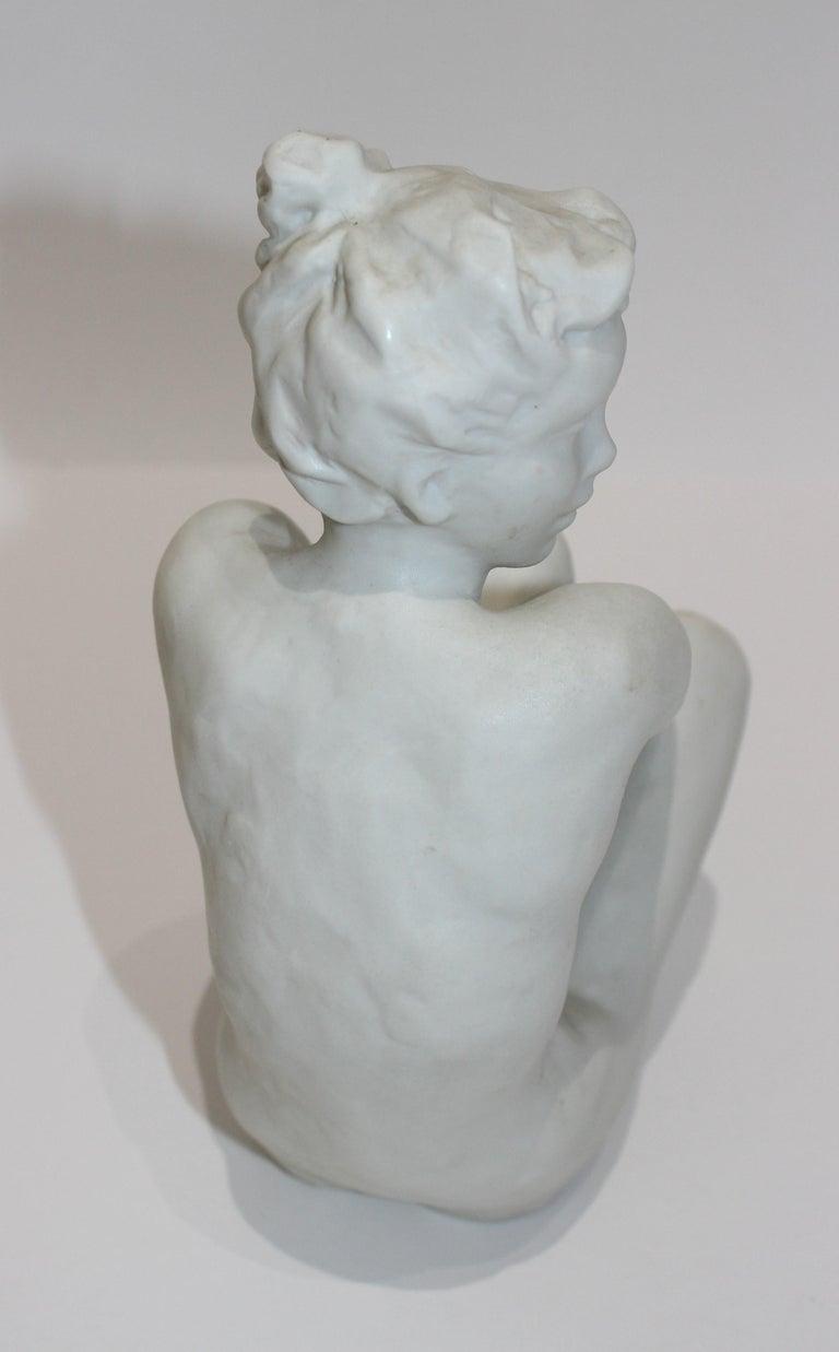 Art Deco Sculpture Figurine of a Nude Female