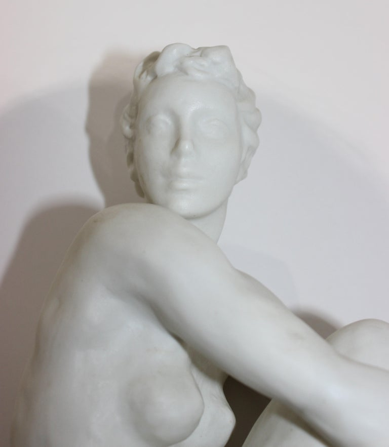 Sculpture Figurine of a Nude Female In Good Condition In West Palm Beach, FL
