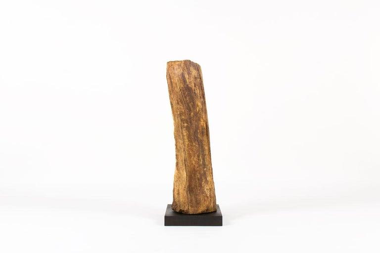 Mid-Century Modern Sculpture in Oak Butalist Design, 1950s For Sale