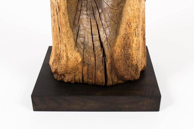 Sculpture in Oak Butalist Design, 1950s In Good Condition For Sale In Auribeau sur Siagne, FR