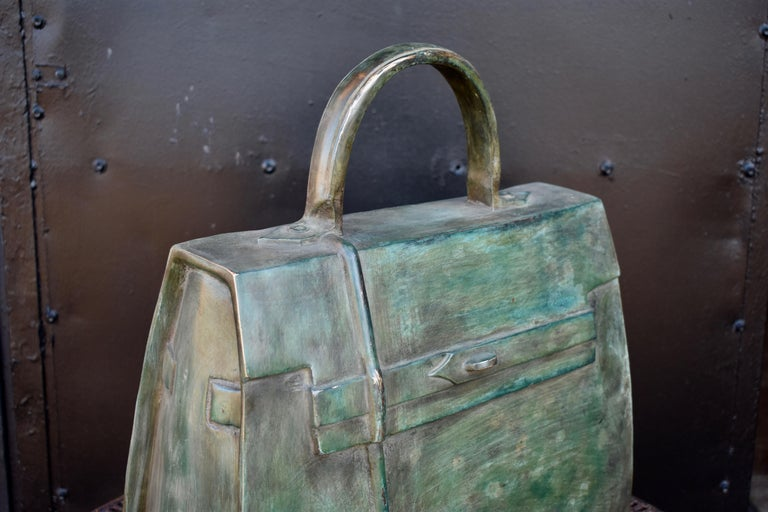 Sculpture, Kelly Bag in Bronze In Good Condition For Sale In Helsingborg, SE