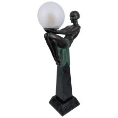 Sculpture Lamp Enigme in the French Art Deco Style an Original Max Le Verrier