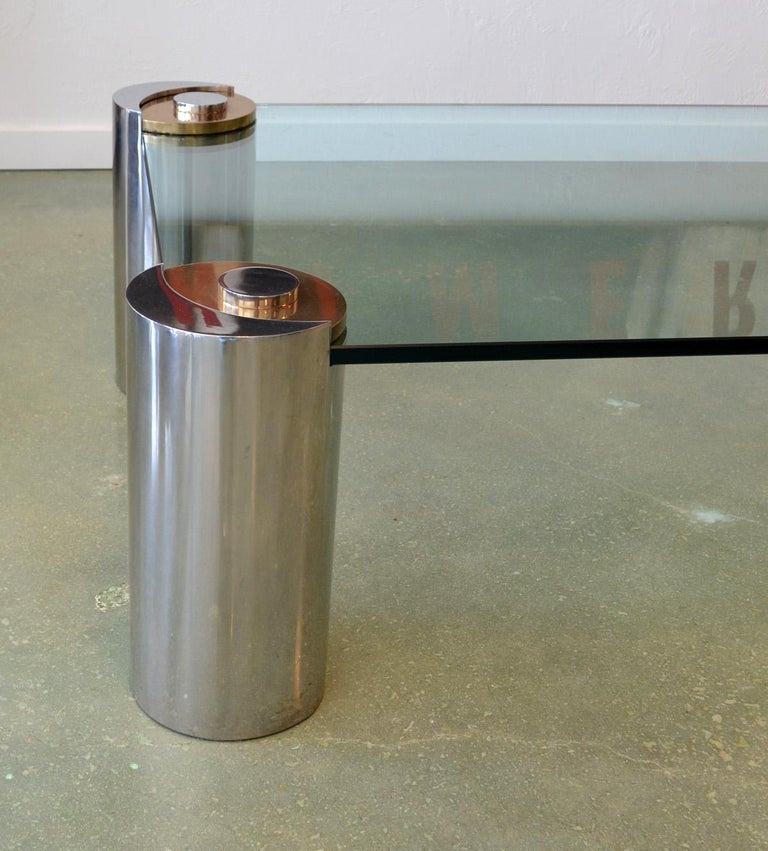 Mid-Century Modern Sculpture Leg Coffee Table by Karl Springer For Sale