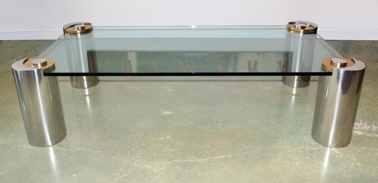 Sculpture Leg Coffee Table by Karl Springer For Sale 1