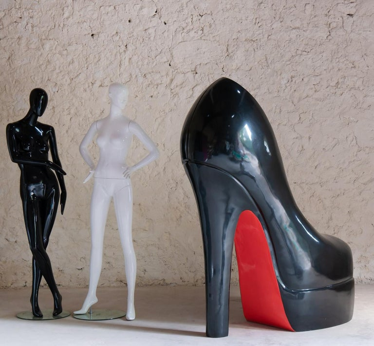 Contemporary Sculpture Louboutin Black Shoe Limited Edition For Sale