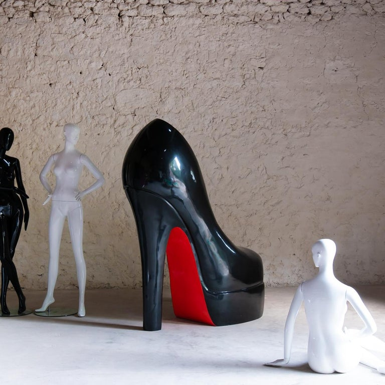 Sculpture Louboutin Black Shoe Limited Edition For Sale 1