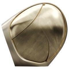 Sculpture Made in Bronze-Patina Brass by Patrick Coard Paris